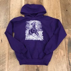 Other - Hooded Horse Graphic Print Sweatshirt